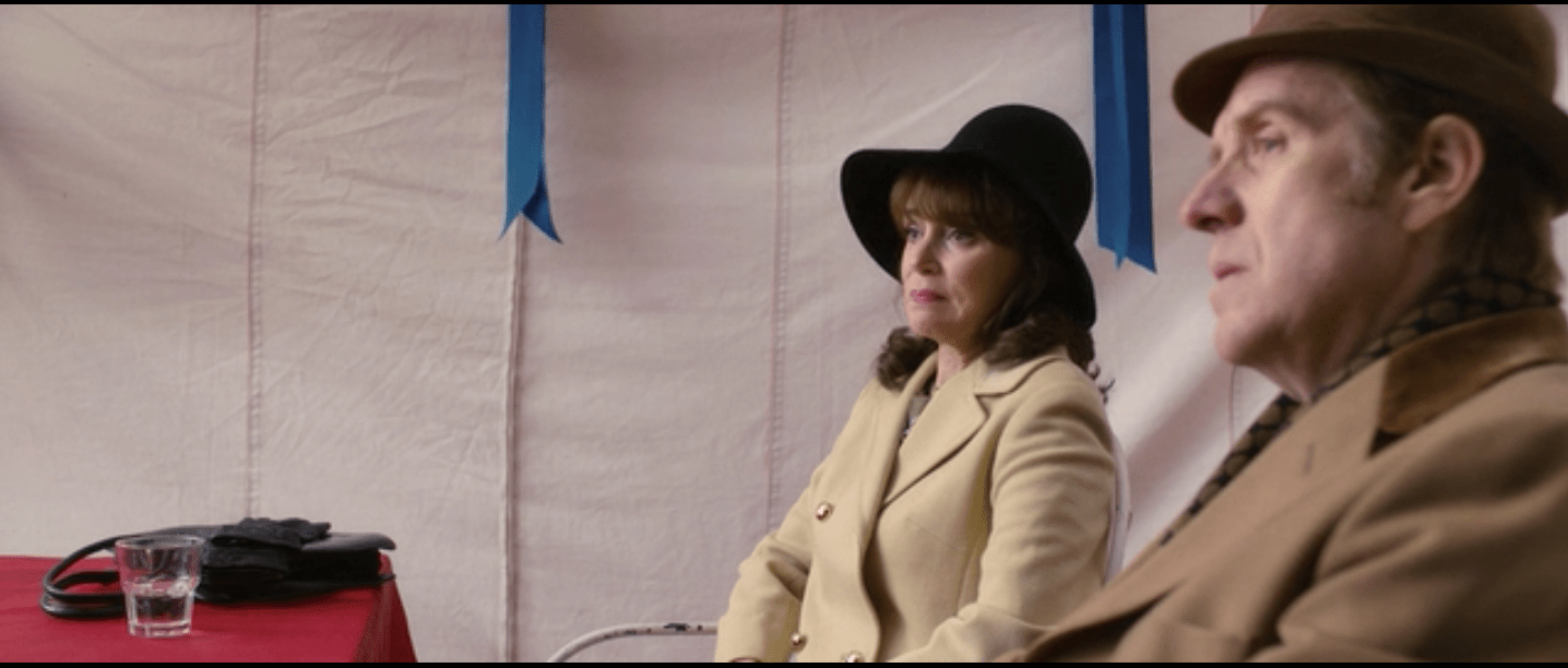 Keeley Hawes in character giving one of her disgusted looks.